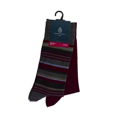 Wine - 2 Pack Classic Socks by Marco Capelli