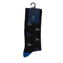 Marco Capelli Black - Yacht Socks