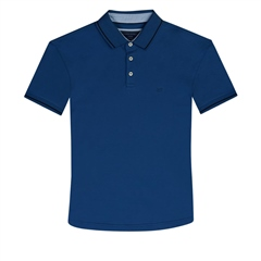 Cobalt - Super Stretch Soft Cotton Polo by Marco Capelli