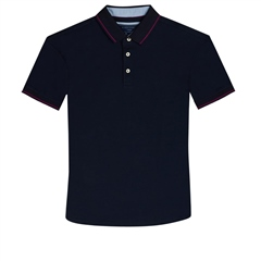 Navy - Super Stretch Soft Cotton Polo by Marco Capelli