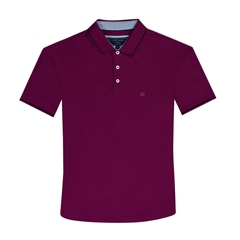 Cherry - Super Stretch Soft Cotton Polo by Marco Capelli