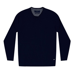 Marco Capelli Navy - Pima Cotton V-Neck Jumper