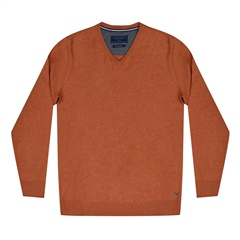 Marco Capelli Coral - Pima Cotton V-Neck Jumper