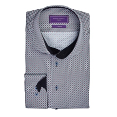 Marco Capelli Red - Slim Fit Geo Print  Shirt