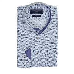Marco Capelli Blue - Diamond Print Shirt