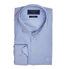 Marco Capelli Blue - Panel Check Shirt