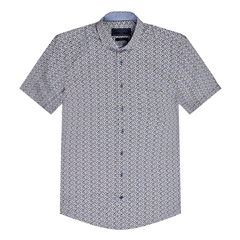 Multi - Short Sleeve Geo Print Shirt by Marco Capelli