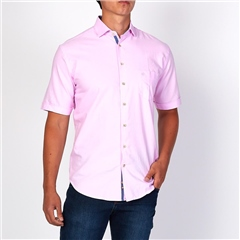 Marco Capelli Pink - Solid Cotton Short Sleeve