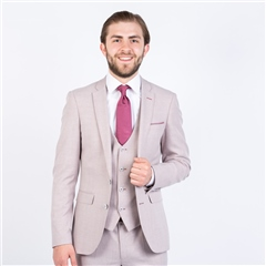 Remus Uomo Rose - Lazio 3 Piece Stretch Slim Fit