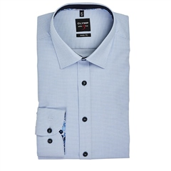 Blue - Mini Structure Slim Fit Shirt by Olymp