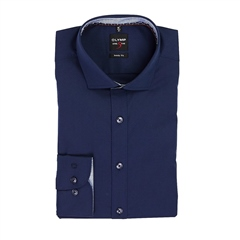 Navy - Diamond Slim Fit Shirt by Olymp