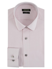 Remus Uomo Pink - Slim Fit Cotton Shirt