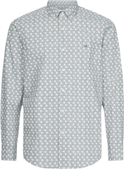 Calvin Klein Light Grey - Button Down Micro Palm Print
