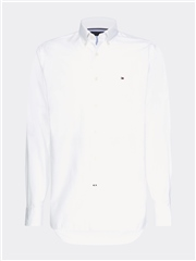 Tommy Hilfiger White - Pure Cotton Dobby Shirt