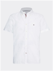 Tommy Hilfiger White - Slim Ss Organic Oxford Shirt