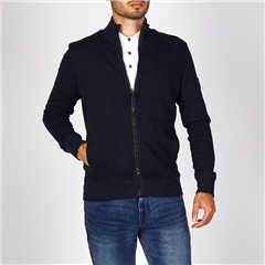 Hugo Boss Dk Blue - Relaxed-Fit Zkybox Jersey Jacket