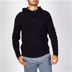 Hugo Boss Dk Blue - Hooded Long Sleeve Sweatshirt