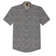 Hugo Boss White - Toucan Motif Slim Fit Shirt