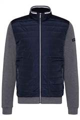 Bugatti Navy - Quilt And Jersey Jacket