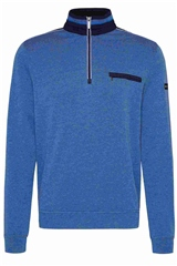 Bugatti Blue - Half Zip Sweat Knit Collar