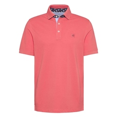 Bugatti Coral - Polo Shirt Under Collar Detail