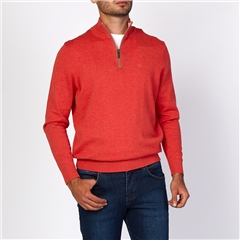 Bugatti Coral - Soft Cotton Half Zip Knit