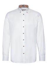 Bugatti White - Twill Long Sleeve Shirt