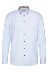 Bugatti Light Blue - Pin Dot Shirt