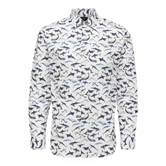 Selected Multi - Pen Jerry Shark Print Shirt
