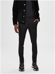 Selected Black - Jersey Flex Trousers