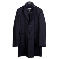 Bugatti Navy - Flexcity Wool Coat