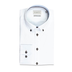 Bugatti White - Cotton Twill Shirt