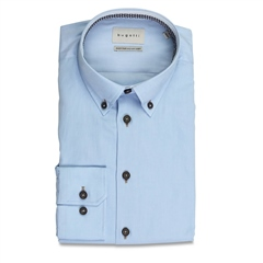 Bugatti Light Blue - Cotton Twill Shirt