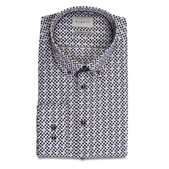 Bugatti Multi - Geo Print Button Down Cotton Shirt