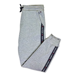 Grey - Authentic Cuffed Lounge Track Pant by Tommy Hilfiger