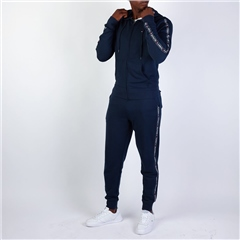 Tommy Hilfiger Navy - French Terry Hood Zip Thru