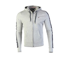 Tommy Hilfiger Grey - French Terry Hood Zip Thru