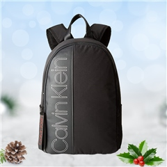 Calvin Klein Black - Double Logo Round Backpack