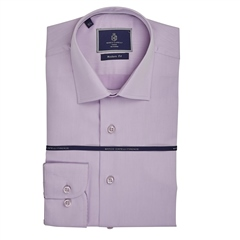 Lilac - Slim Fit Business Shirt by Marco Capelli