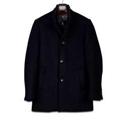 Sea Barrier Navy - Wool Blend Goya Coat