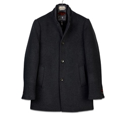 Sea Barrier Charcoal - Wool Blend Goya Coat