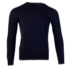 Marco Capelli Navy - Solid Crew Neck Jumper