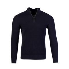 Marco Capelli Navy - Structured Half Zip Jumper