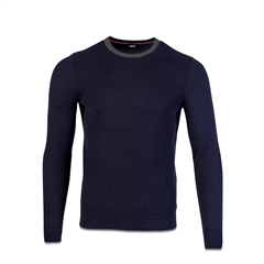 Hugo Boss Dk Blue - Ayakop Cotton Wool Knit