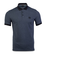 Dk Blue - Contrast Collar Polo by Hugo Boss