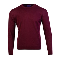 Marco Capelli Burgundy - Merino Wool Crew Neck Knit