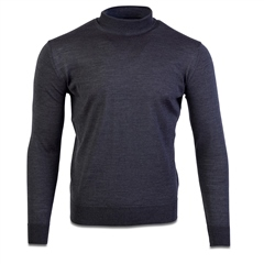 Marco Capelli Charcoal - Merino Wool Turtleneck Knit