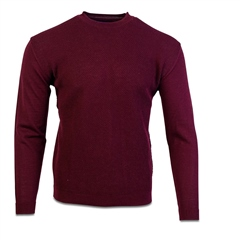 Burgundy - Structured Rice Knit by Marco Capelli