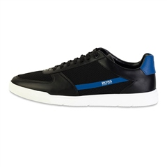 Hugo Boss Black - Cosmopool Leather Mesh Trainers