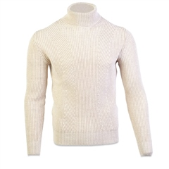 Marco Capelli Oatmeal - Polo Neck Knit